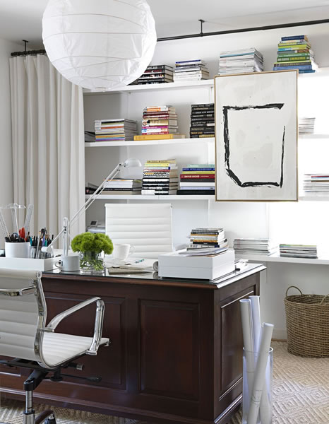 Conceal Clutter With Curtains